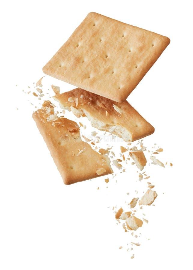 Zerbrochene Cracker stockbild