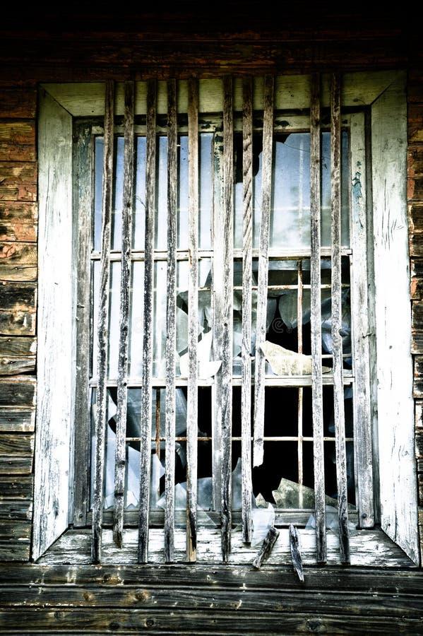 Zerbrochene Fensterscheibe stockfotografie