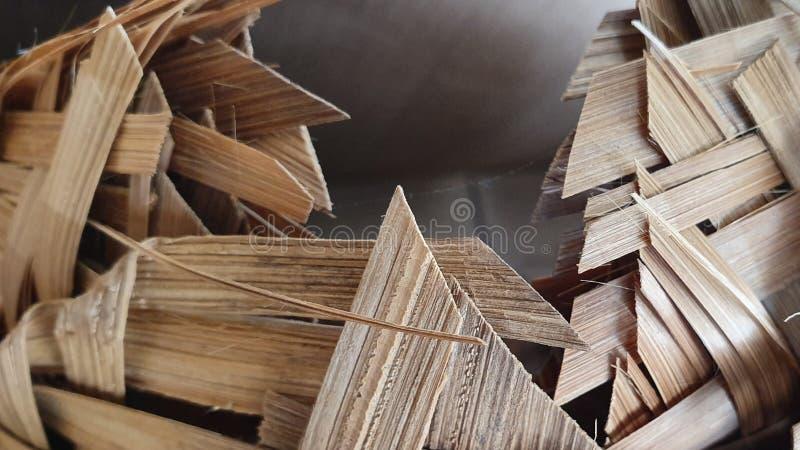 Zerbrochener Bambus stockbild