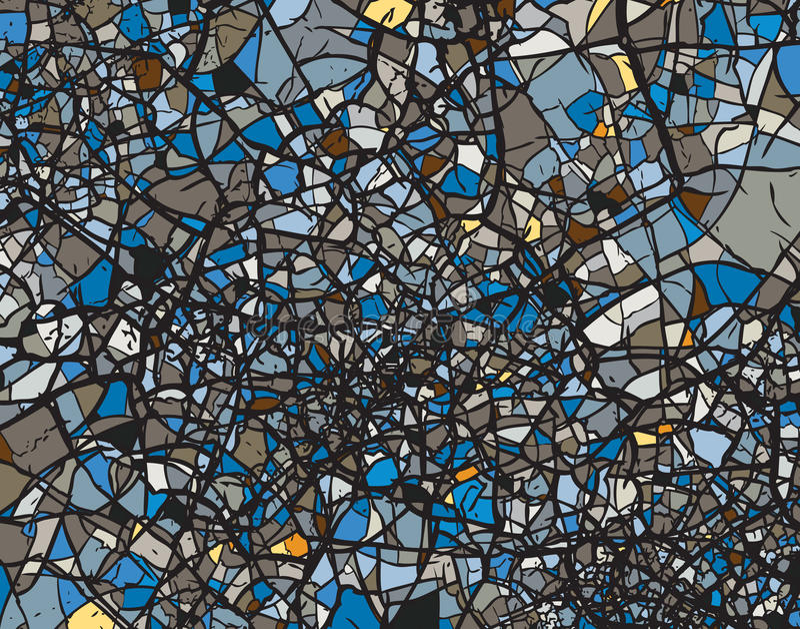 Zerbrochenes Blau stock abbildung