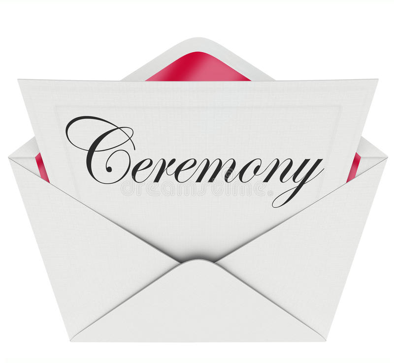 Zeremonie-Partei-Gedenken-Ereignis-Einladungs-Umschlag stock abbildung