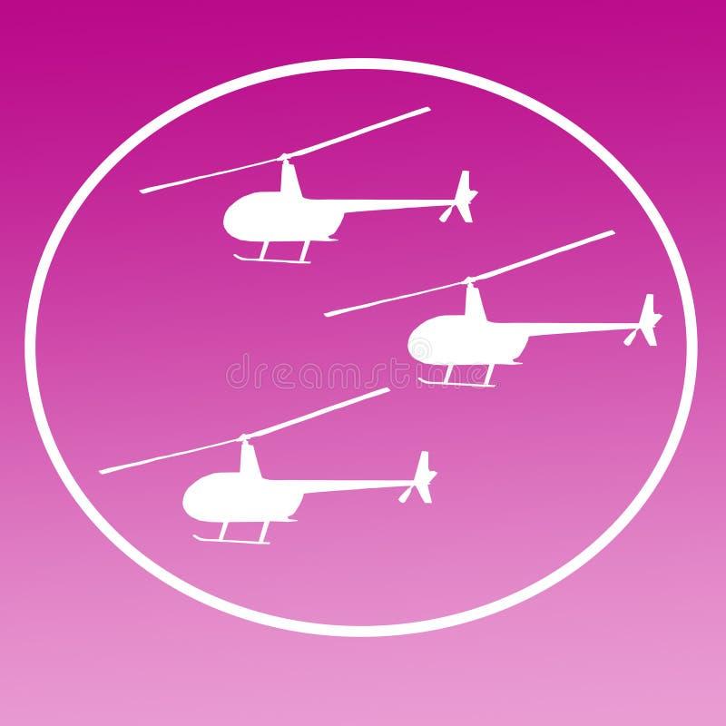 Zerhacker-Hubschrauber Logo Banner Background Image lizenzfreie abbildung