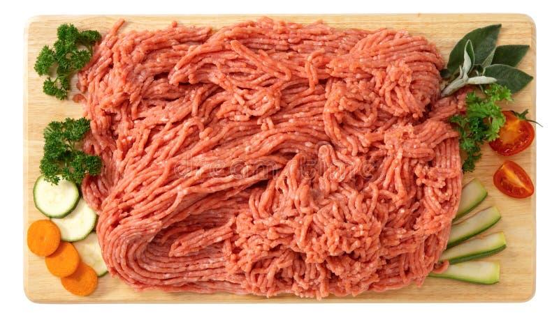 Zerkleinert vom Kalbfleisch stockfotografie