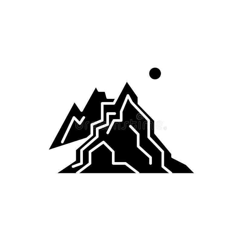 Zerknięcie czarna ikona, wektoru znak na odosobnionym tle Zerknięcia pojęcia symbol, ilustracja ilustracja wektor