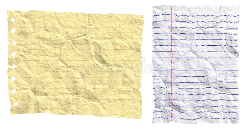 Zerknittern Sie heftiges Papier vektor abbildung