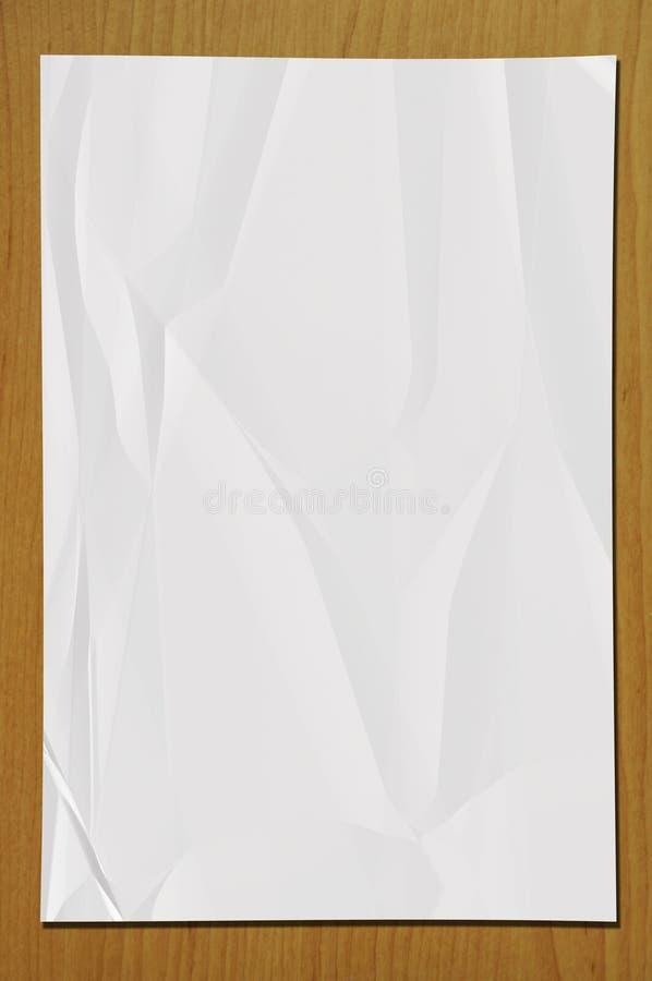 Zerknittert bereiten Sie Papier auf lizenzfreie abbildung