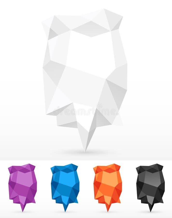 Zerknittert Luftblasen für Rede stock abbildung
