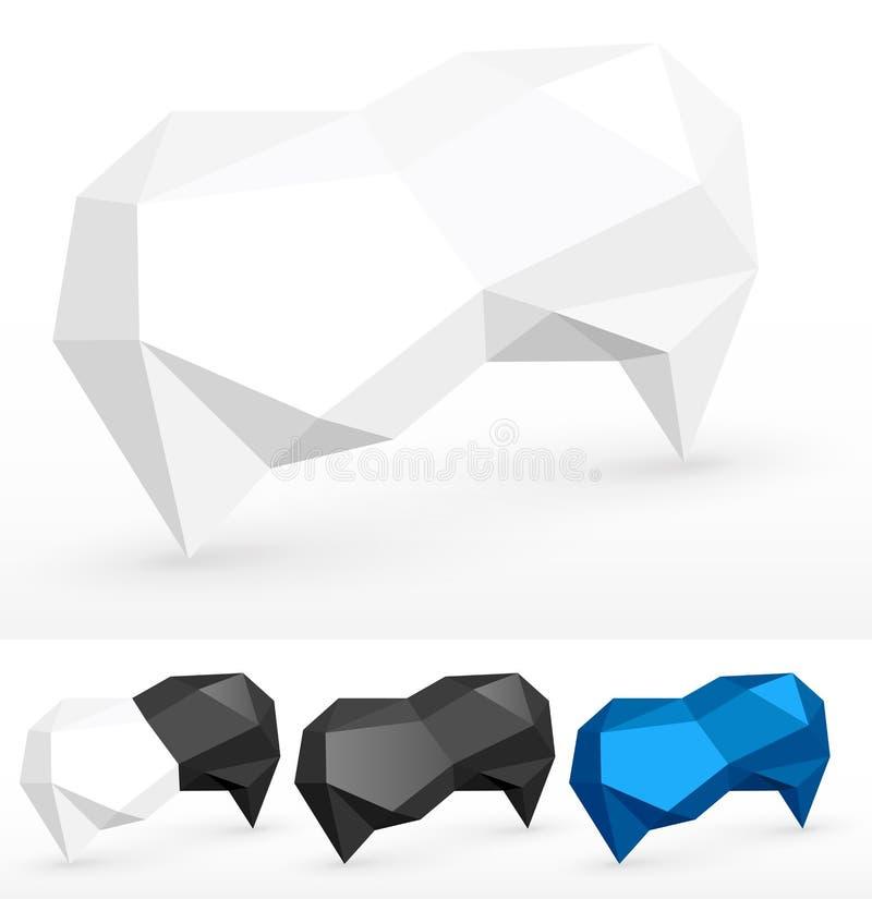 Zerknittert Luftblasen für Rede lizenzfreie abbildung