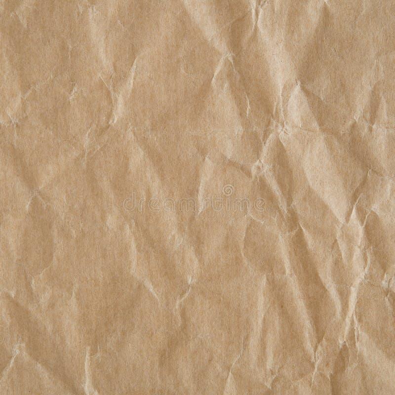Zerknitterte eco Papierbeschaffenheit stockbild