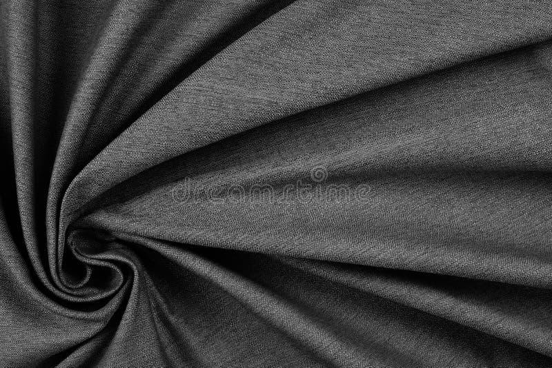 Zerknitterte graue Textilbeschaffenheit (hohes Res stockfotos