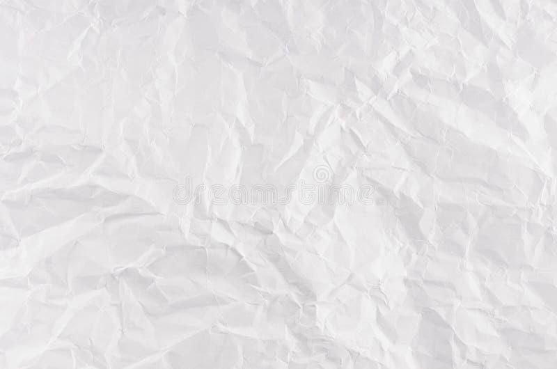 Zerknitterte Weißbuch-Beschaffenheit lizenzfreie stockbilder