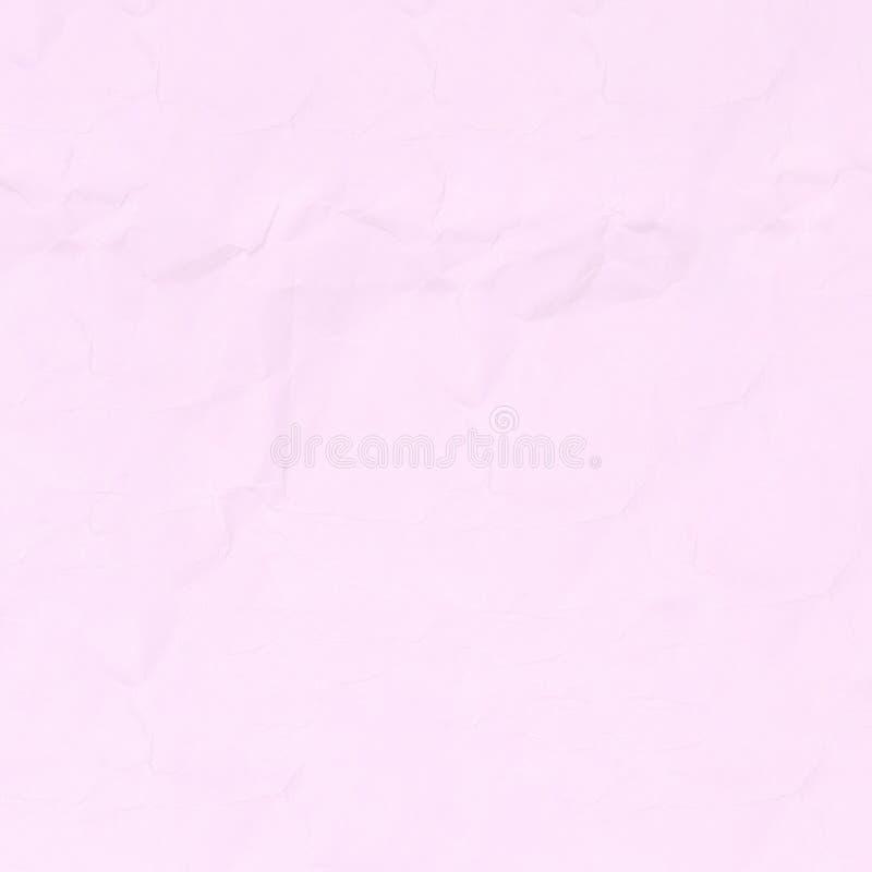 Zerknitterter rosa Papierbeschaffenheitshintergrund für Design lizenzfreie stockbilder