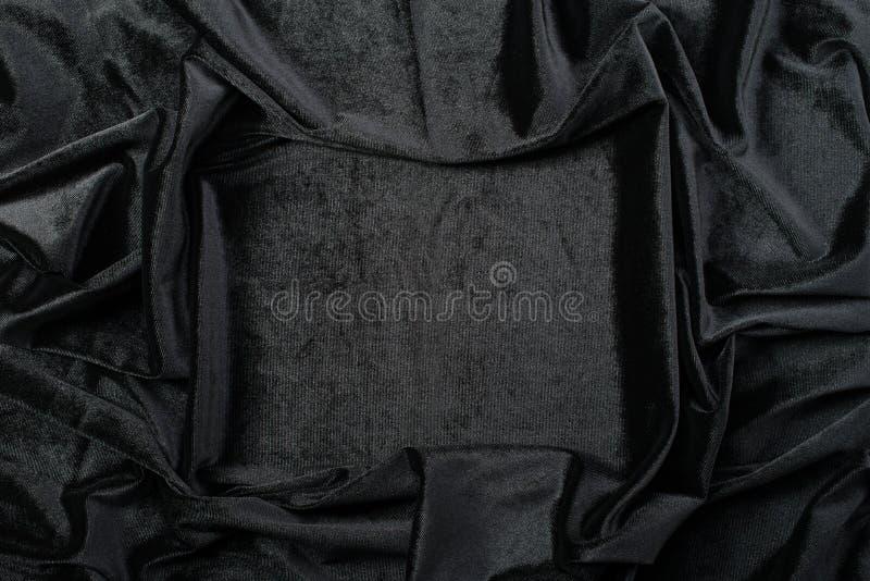 Zerknitterter schwarzer Samt lizenzfreie stockfotos