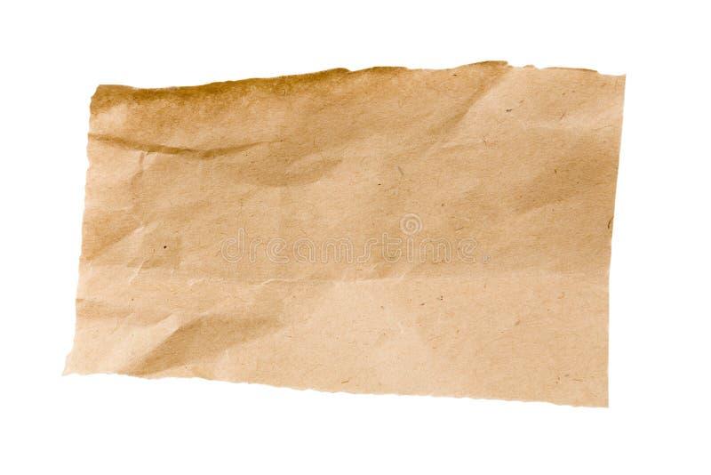 Zerknittertes Brown-verpackenpapier lizenzfreie stockfotos