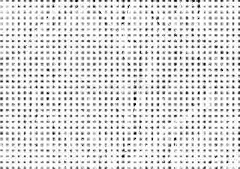 Zerknittertes Papier des Vektorhintergrundes halfton stock abbildung