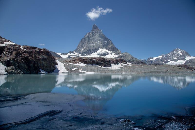 Zermatt, Ελβετία - το εικονικό βουνό Το Matterhorn στοκ φωτογραφίες με δικαίωμα ελεύθερης χρήσης