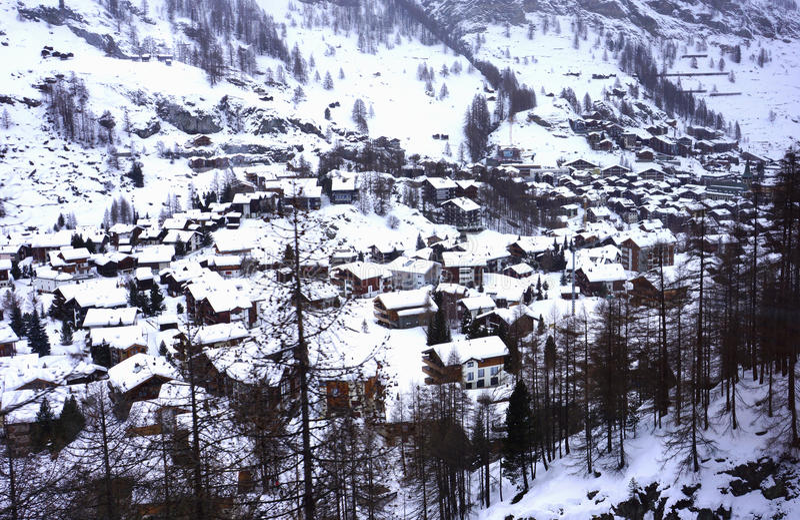 Zermatt desde arriba fotos de archivo