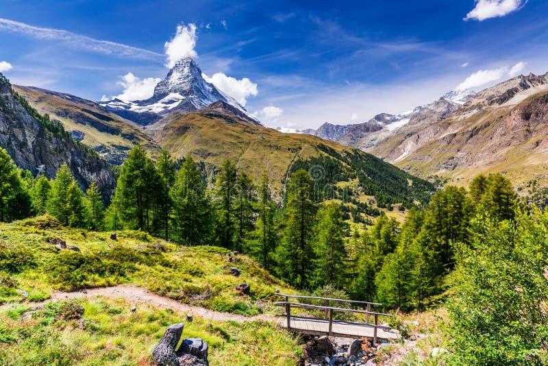 Zermatt, hotel svizzeri in Zermatt, Svizzera di Switzerland fotografie stock libere da diritti