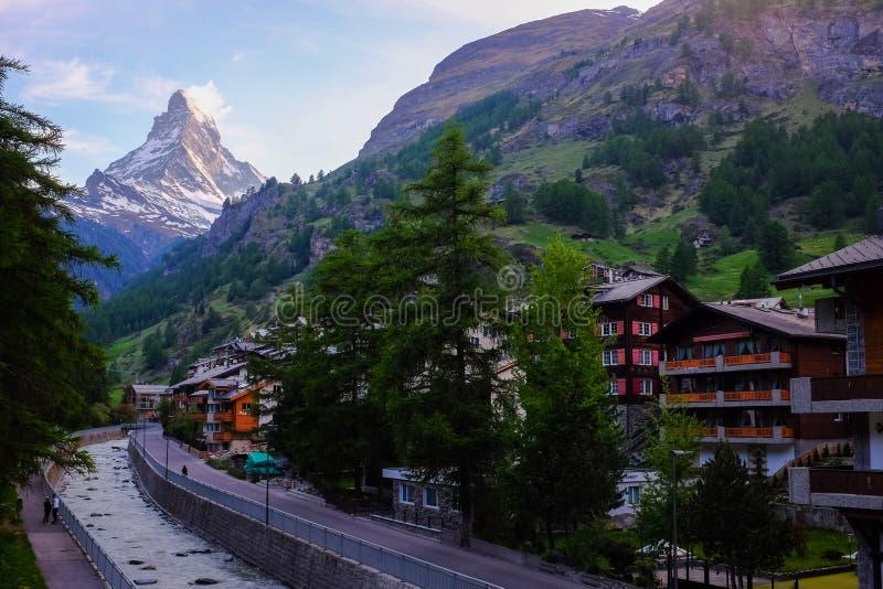 Zermatt i Matterhorn obraz royalty free
