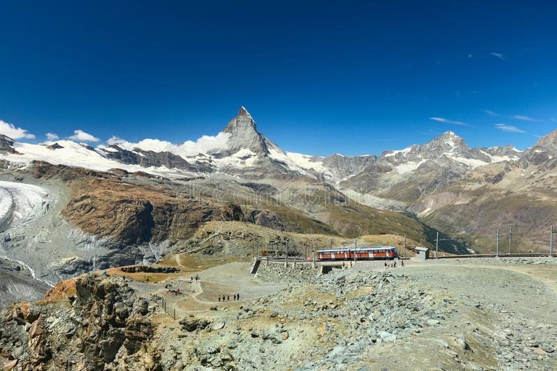 Zermatt, Matterhorn, Gornergrat, Switzerland, Alpine Railway royalty free stock photos