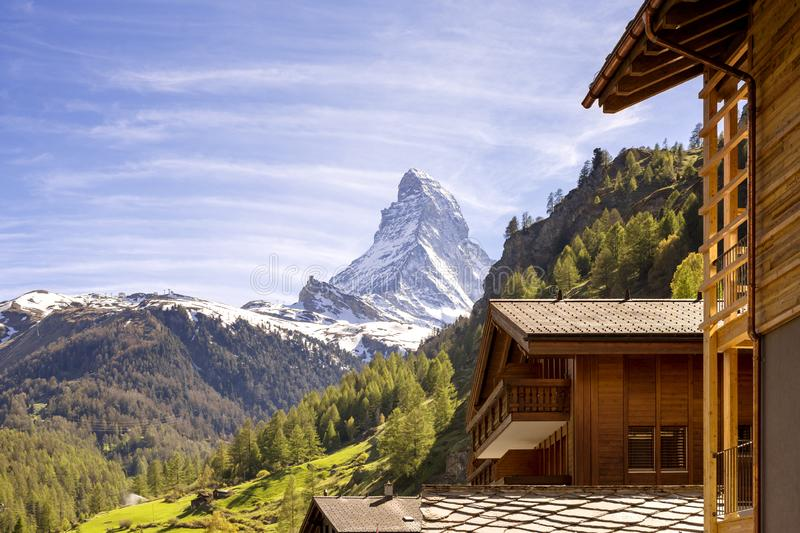 Zermatt and Matterhorn, Switzerland stock photo
