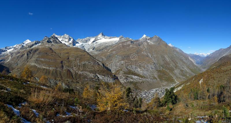 Zermatt w jesieni obrazy royalty free