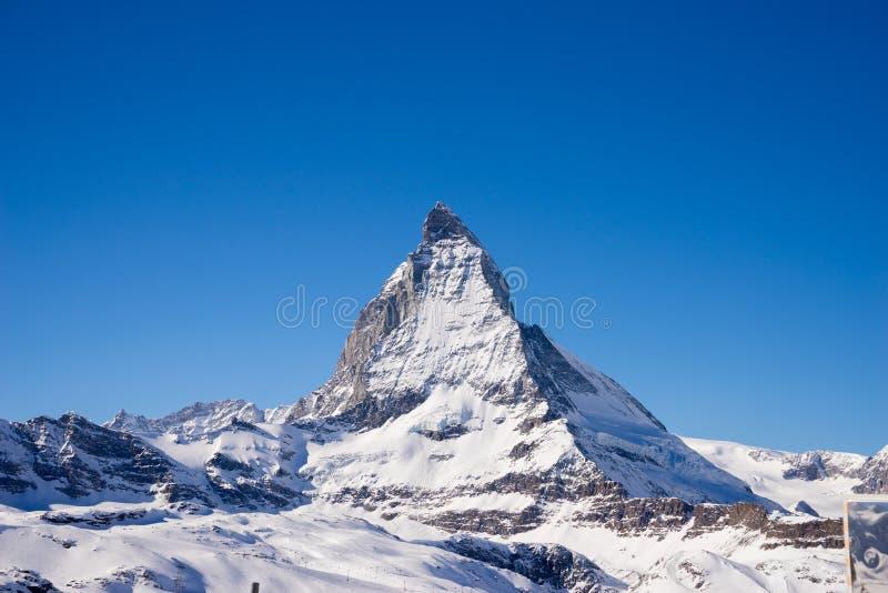 Zermatt, Zwitserland, matterhorn, skitoevlucht royalty-vrije stock foto