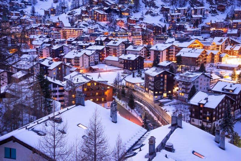 Zermatt, Zwitserland, matterhorn, skitoevlucht stock foto's