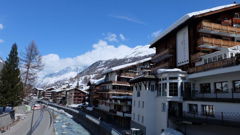 Zermatt, Zwitserse Hotels Switzerland royalty-vrije stock fotografie