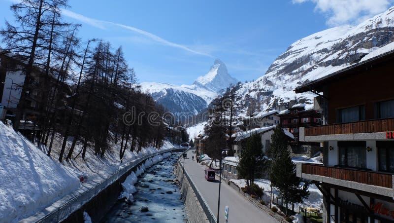 Zermatt, Zwitserse Hotels Switzerland royalty-vrije stock foto's