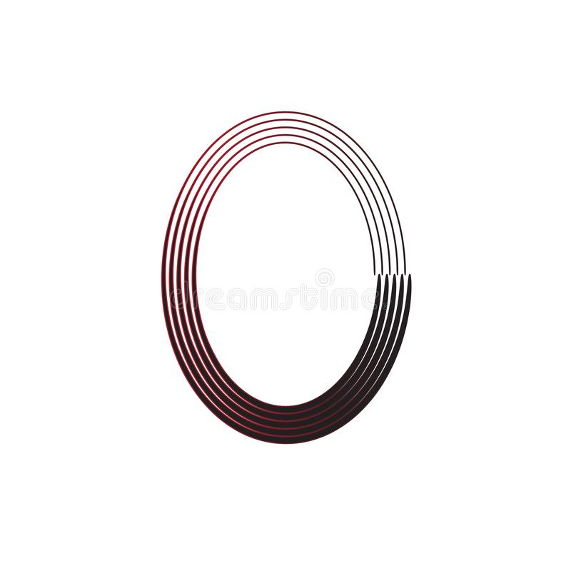 Zero Design. Zero Symbol Original Vector Design For Company Logo. Gradient Null Stylish Concept royalty free illustration