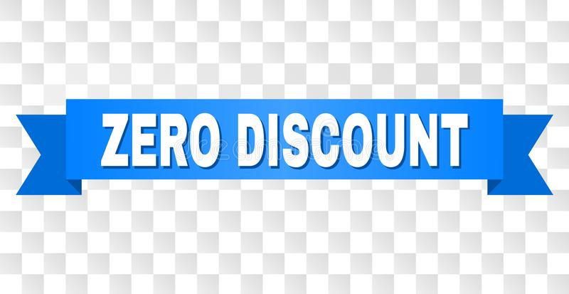 Blue Tape with ZERO DISCOUNT Title stock illustration