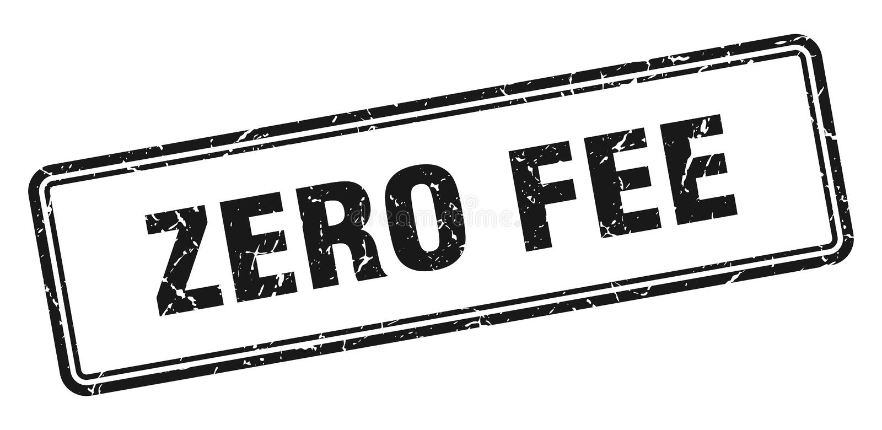 Zero fee stamp. Zero fee grunge vintage stamp isolated on white background. zero fee. sign vector illustration