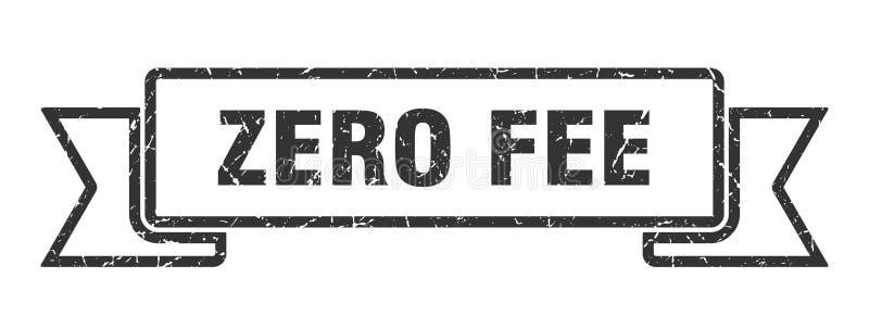 Zero fee ribbon. Zero fee vintage sign. banner. zero fee stock illustration