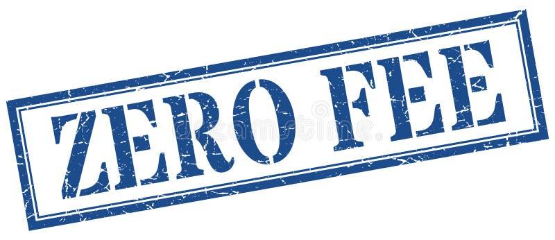 Zero fee stamp. Zero fee grunge vintage stamp isolated on white background. zero fee. sign stock illustration