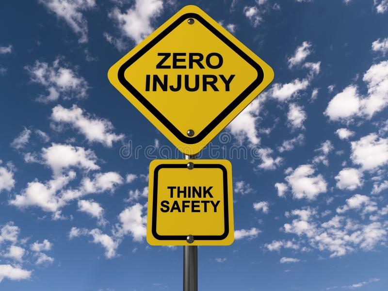 Zero injury Think safety royalty free illustration