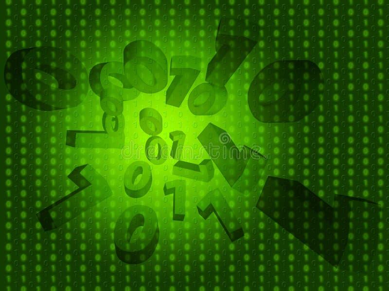 Zero Jeden tła Znaczy Binarnego programowanie I technologię royalty ilustracja