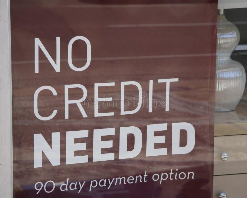 Zero kredyt Potrzebujący zdjęcie stock