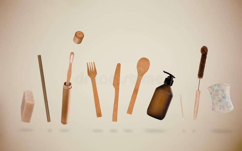 Zero odpadów dostawy dla osobistej higieny Podtrzymywalny stylu życia pojęcie fotografia stock