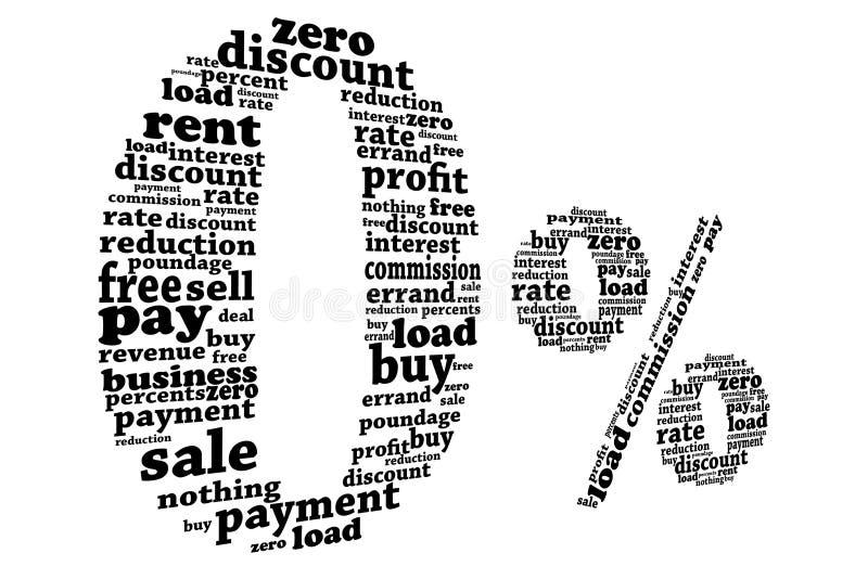 Download Zero percent stock illustration. Image of calculation - 21205137