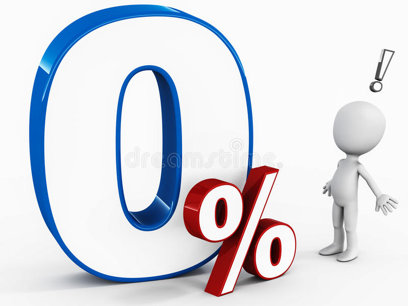 Zero percent apr stock illustration