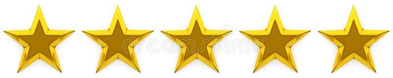 Zero, pięć gwiazdowy przegląd lub ocena ilustracji