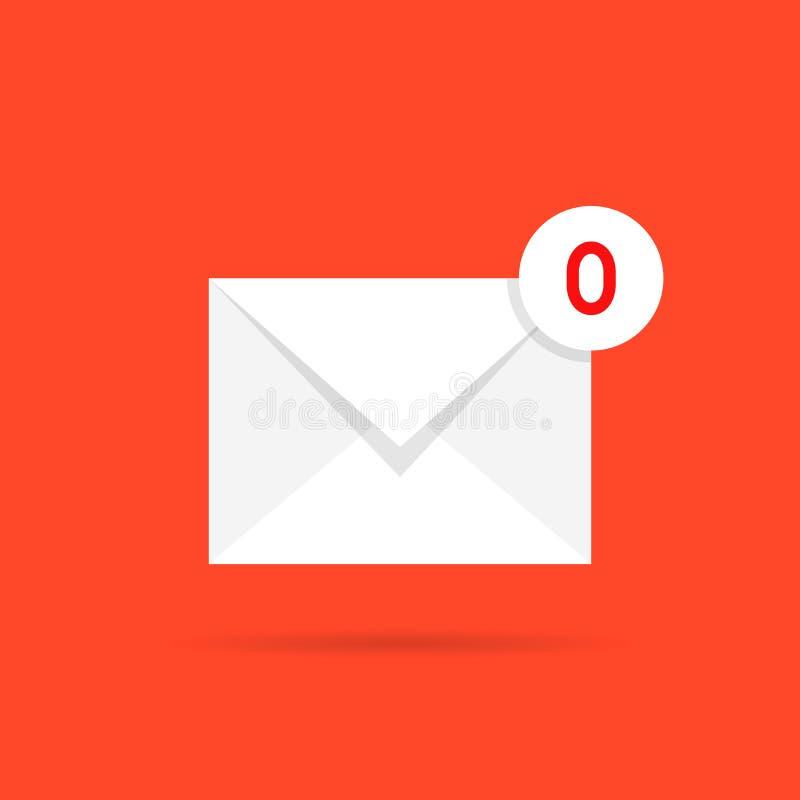 Zero poczt jak pusty inbox royalty ilustracja