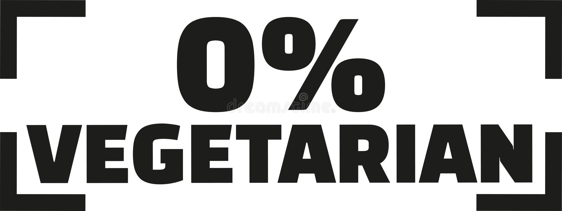 Zero procentu jarosz - mięsny zjadacz ilustracja wektor