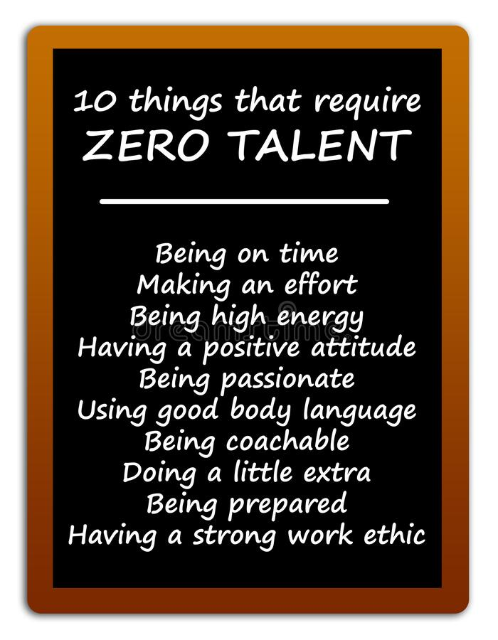 Free Zero Talent Things Stock Images - 204473644