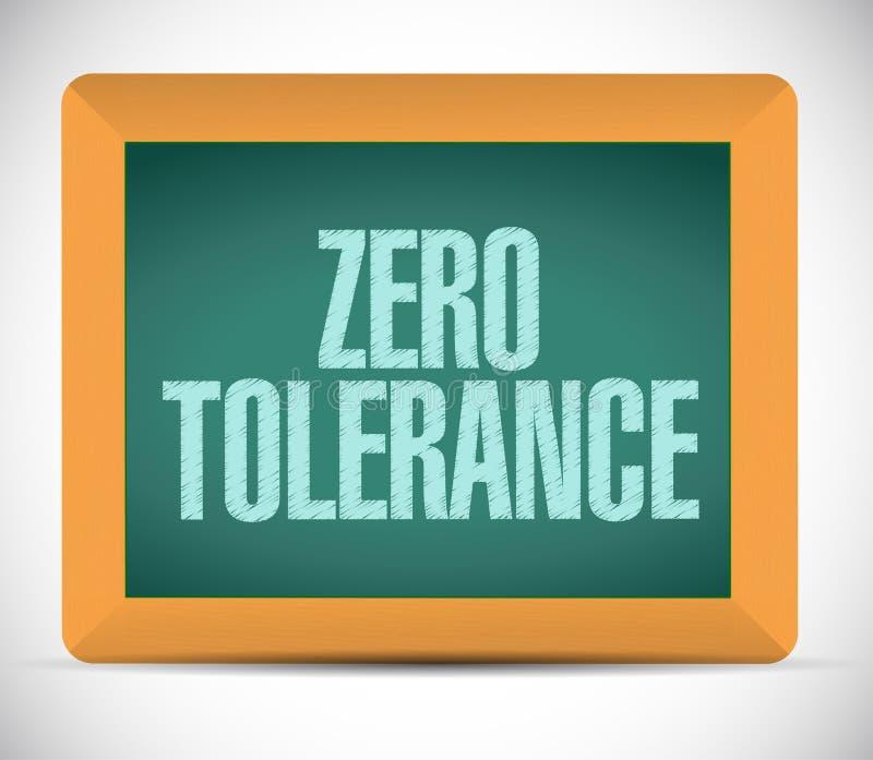 Zero tolerancji wiadomości ilustracyjny projekt royalty ilustracja