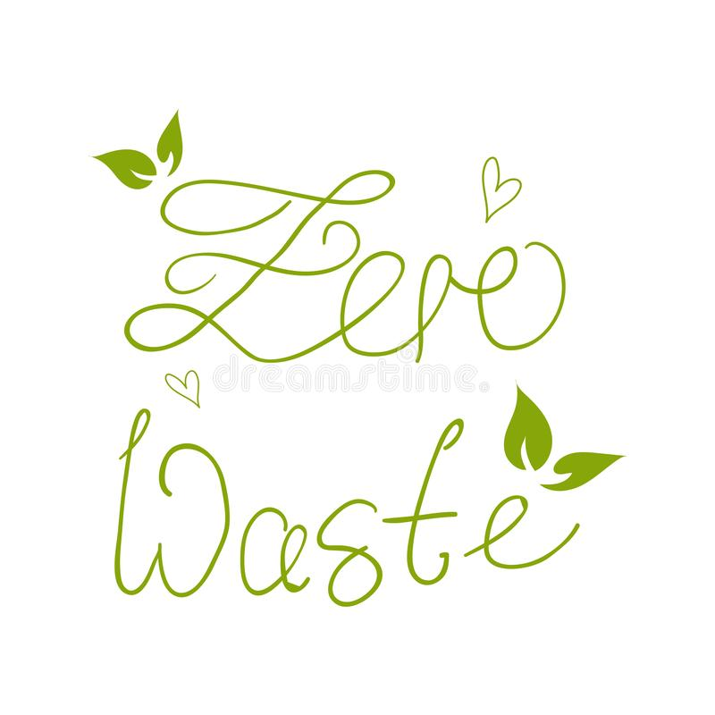 Zero Waste Concept. Hand drawn elements. Vector illustration. Zero Waste Concept. Hand drawn elements of zero waste life. Zero waste concept card. Good for stock illustration