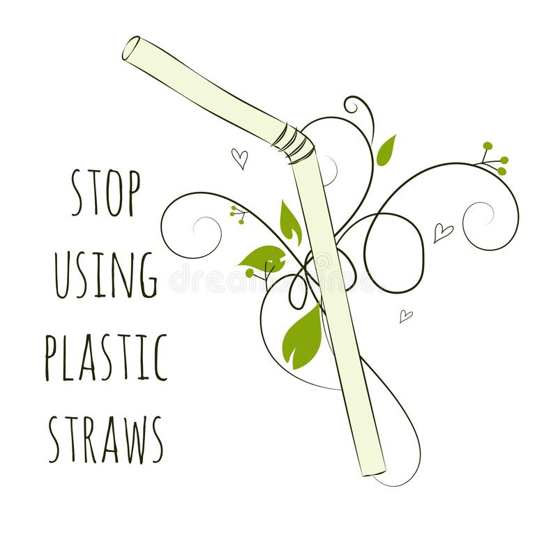 Zero Waste Concept. Hand drawn elements. Vector illustration stock illustration