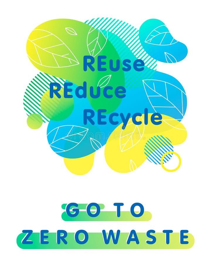 Zero waste concept vector illustration