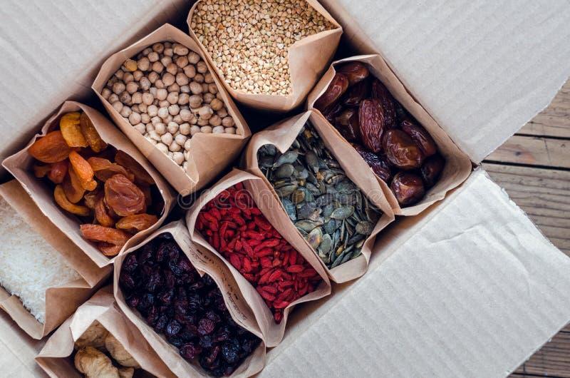 Zero Waste Food Storage Eco Bag Top View royalty free stock photo